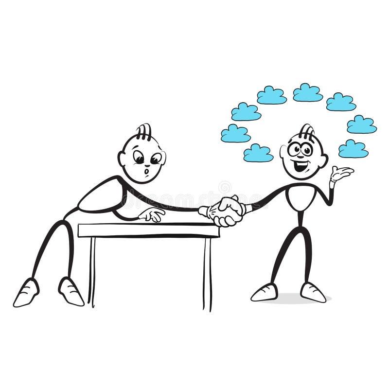 棍子形象系列情感-错误诺言 库存例证