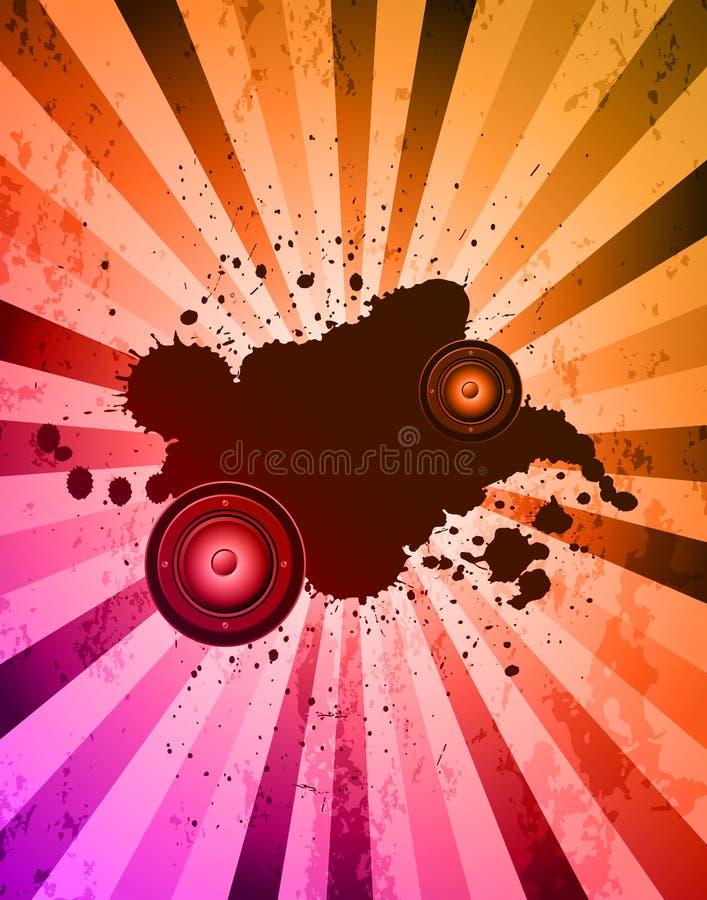 棍打音乐事件或海报的党flayer 库存例证