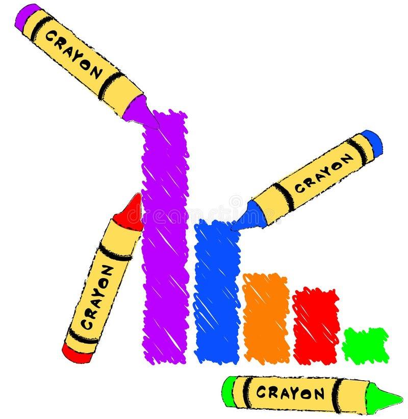 棒五颜六色的图形 向量例证