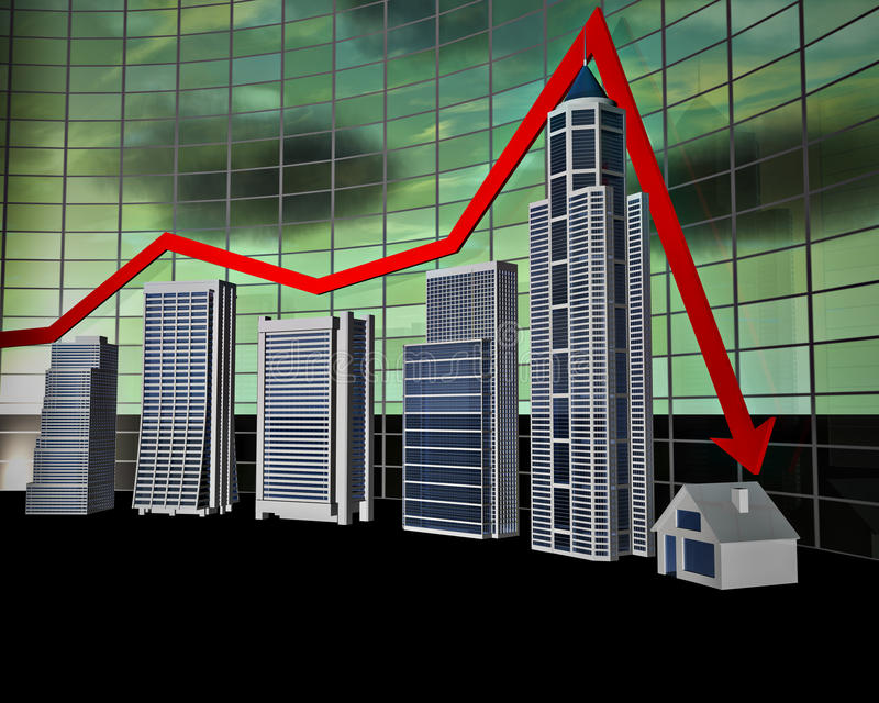 棒企业图形 向量例证