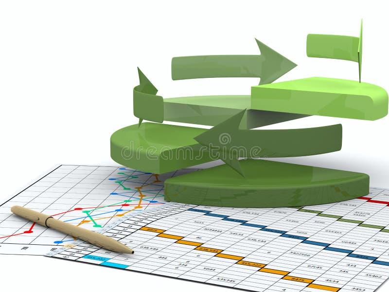 棒企业图解表财务图象 向量例证