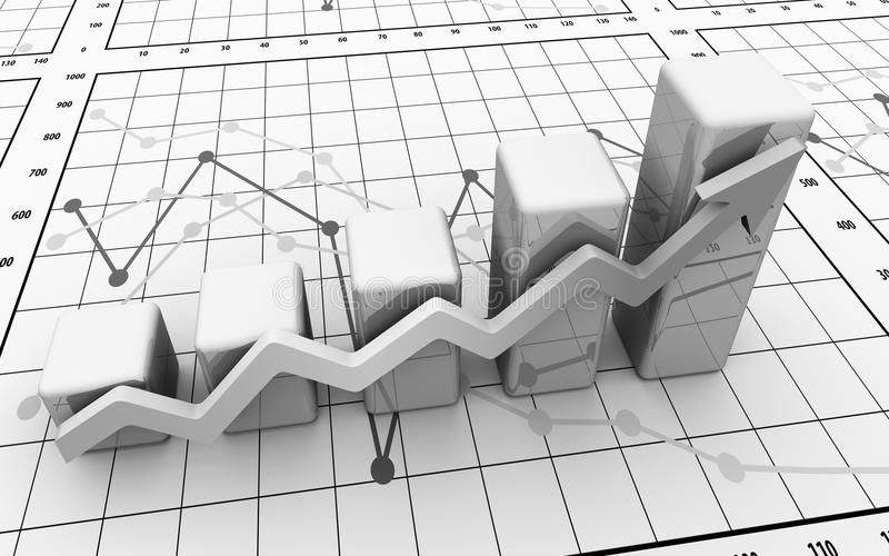 棒企业图解表财务图象 库存图片