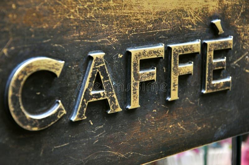 棒咖啡符号 免版税库存照片