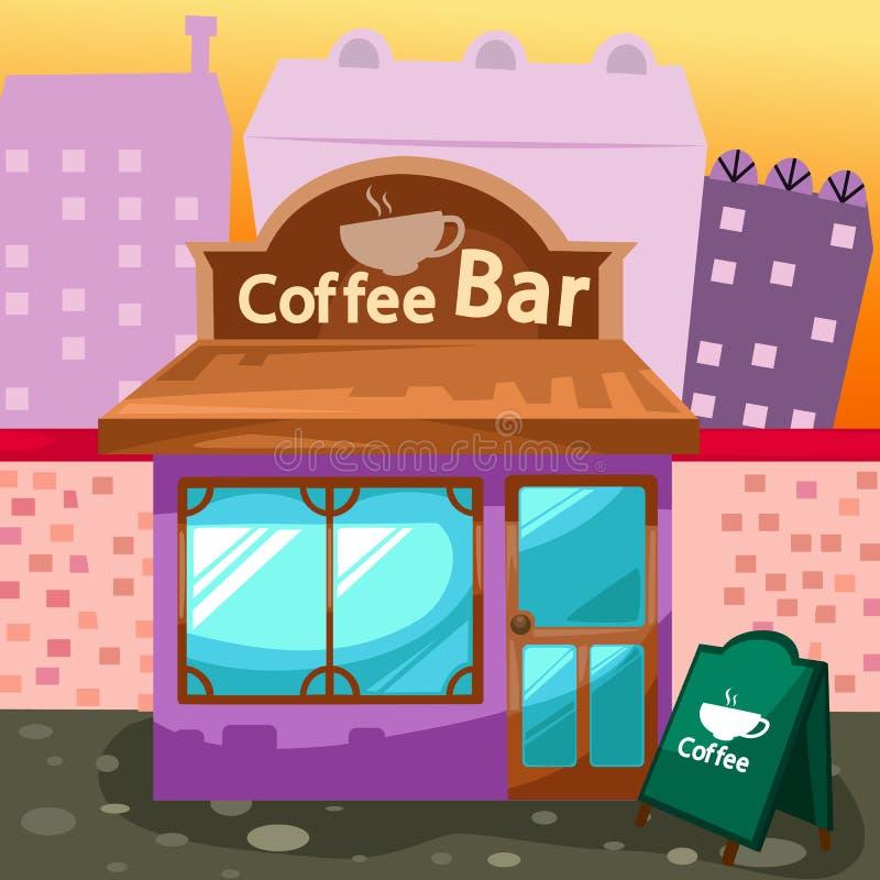 棒咖啡 库存例证