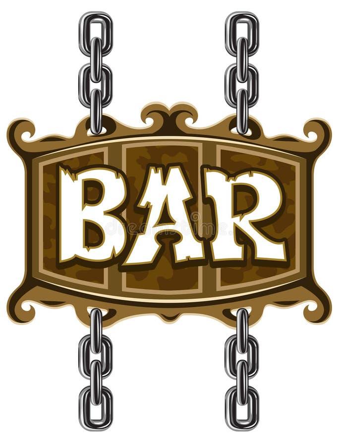 棒啤酒木客栈的符号 向量例证