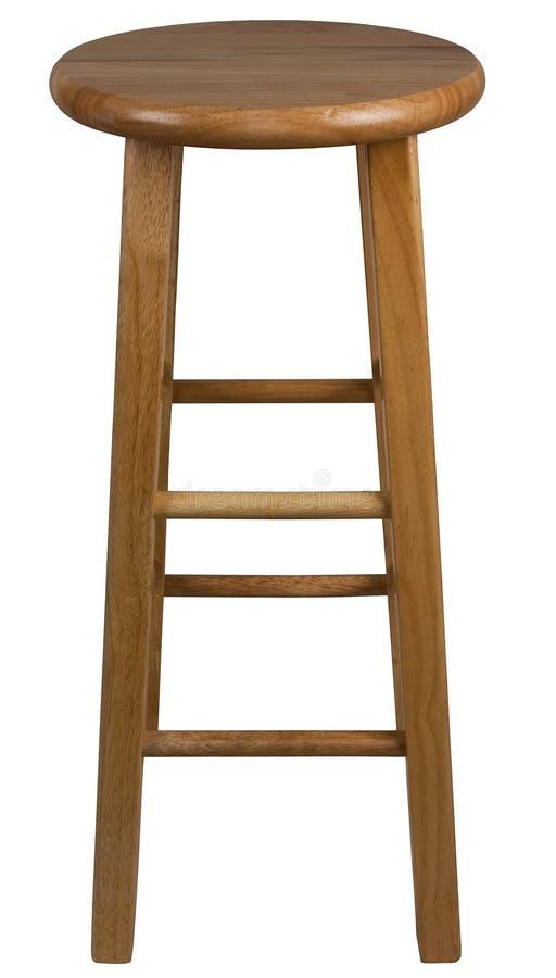 棒固定的凳子木头 免版税库存照片