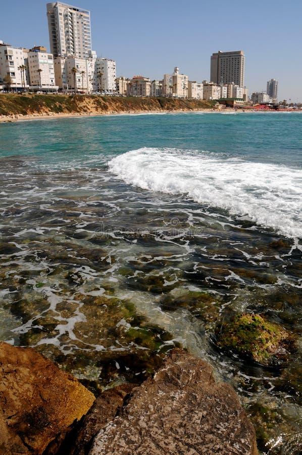 棒城市沿海以色列堵塞 图库摄影