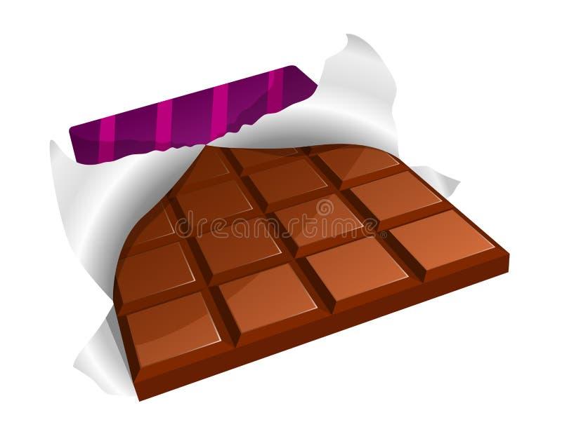 棒巧克力 库存例证