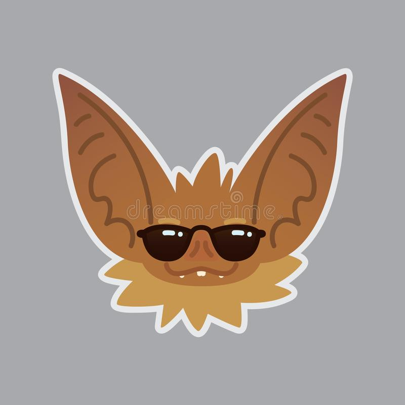 棒情感头 凉快的emoji 图标面带笑容 皇族释放例证