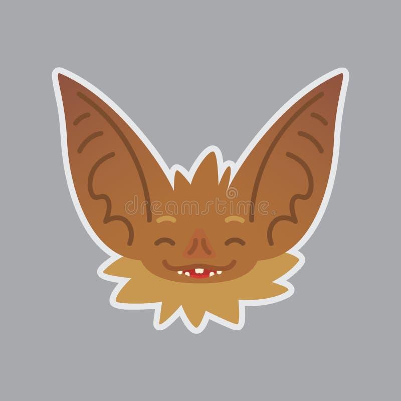 棒情感头 愉快的emoji 图标面带笑容 向量例证