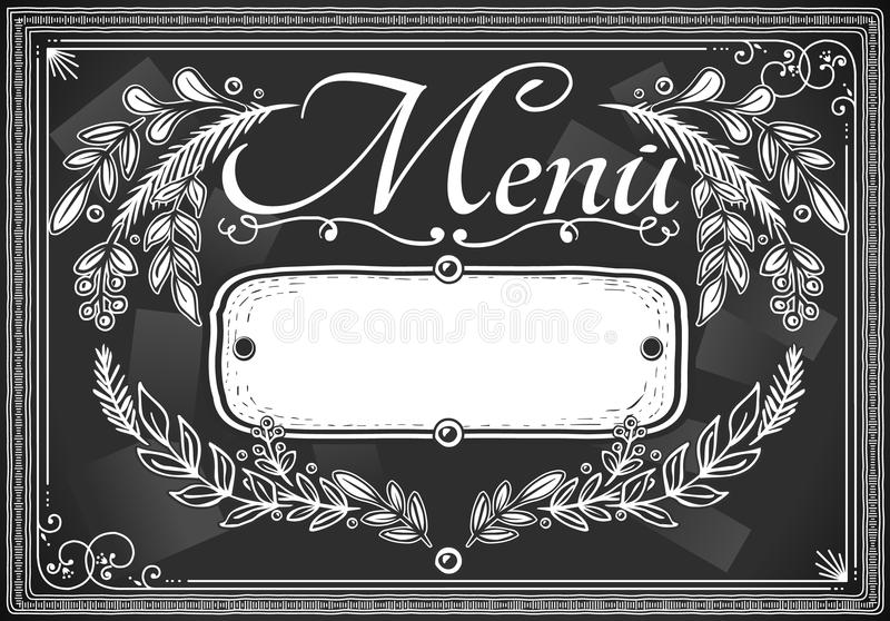 棒或餐馆的葡萄酒图象安排看板卡菜单 向量例证