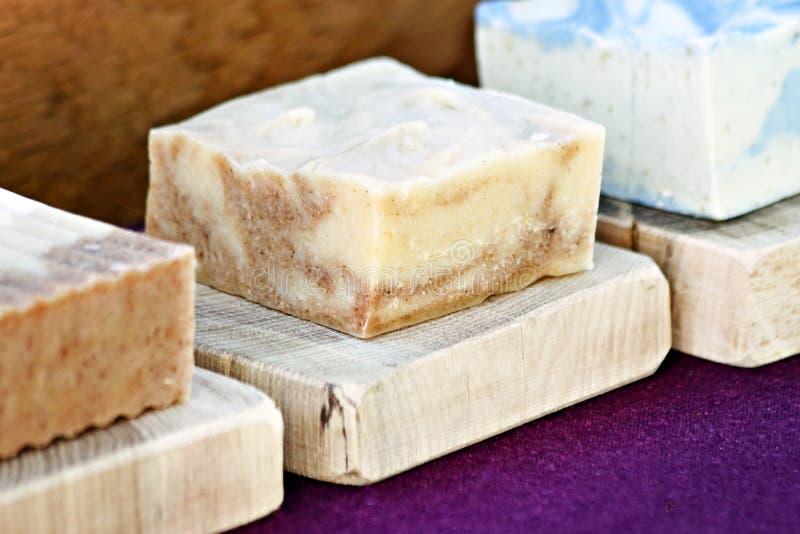 棒手工制造肥皂 免版税库存图片