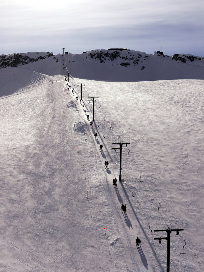 棒推力滑雪t 图库摄影