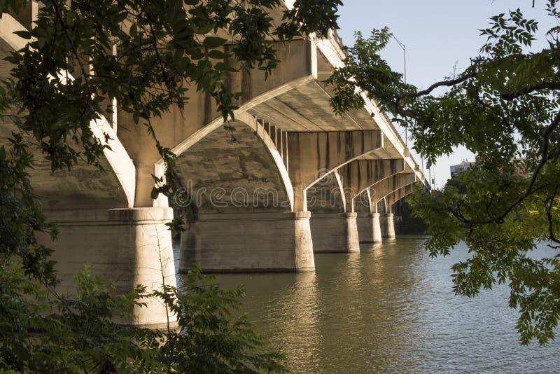 棒桥梁在奥斯汀,得克萨斯 免版税库存照片
