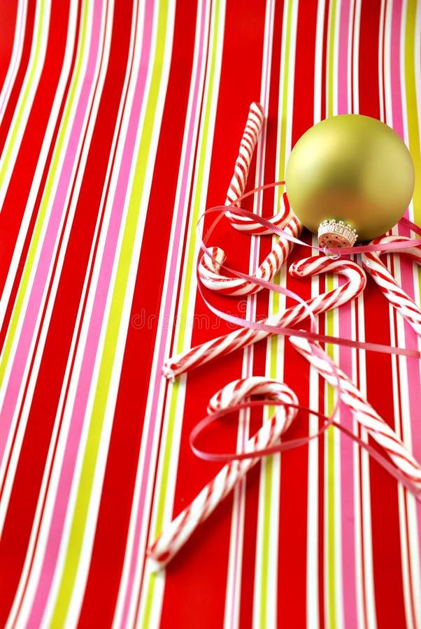 棒棒糖和装饰品 免版税图库摄影