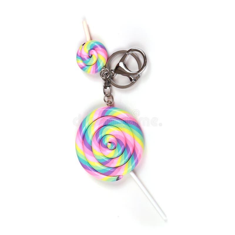 棒棒糖奖牌钥匙 免版税库存图片