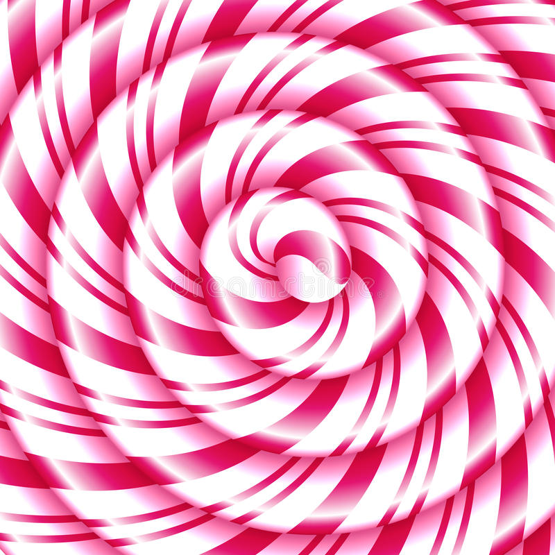 棒棒糖甜螺旋抽象背景 库存例证
