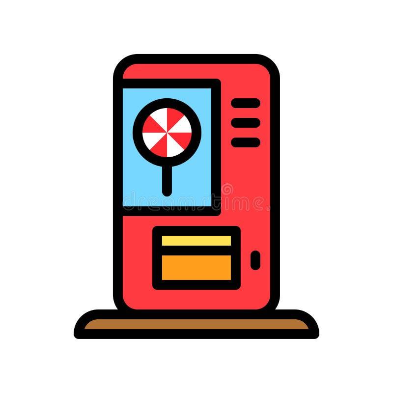 棒棒糖贩卖机传染媒介例证,填装了样式象编辑可能的概述 皇族释放例证