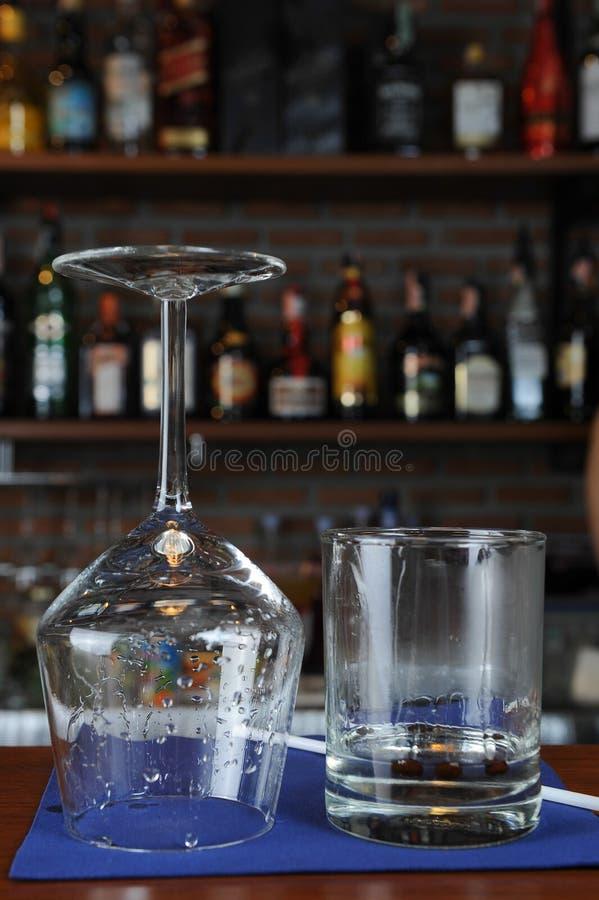 棒玻璃酒 图库摄影