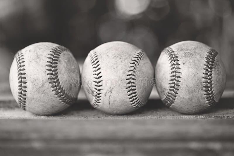 棒球三 库存图片