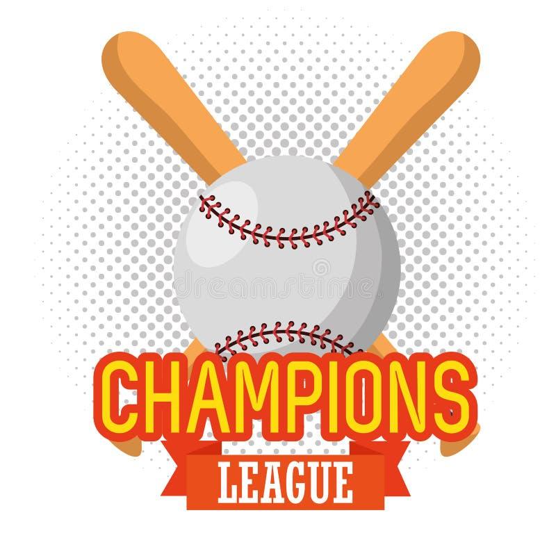 棒球体育冠军同盟 向量例证