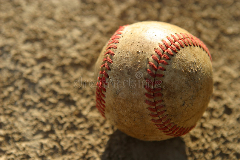 棒球使用了 免版税库存照片