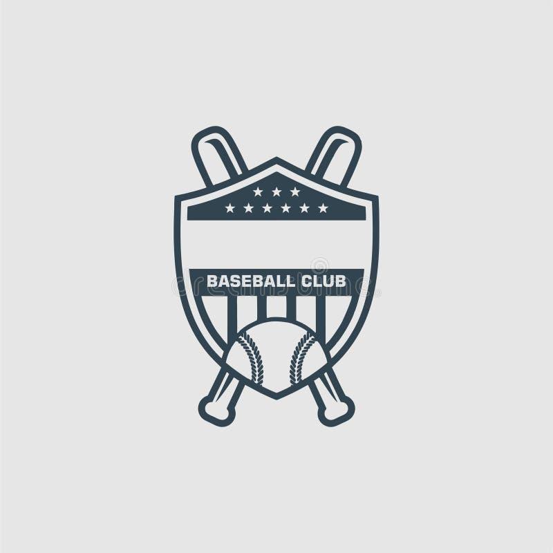 棒球俱乐部商标启发 库存例证