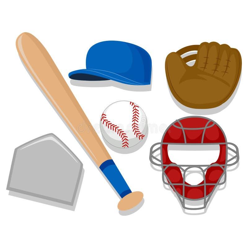 棒球元素 库存例证