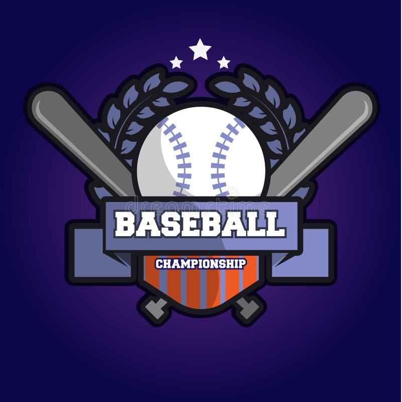 棒球冠军商标 免版税库存照片