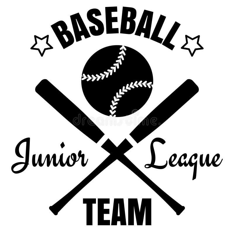 棒球商标设计 向量例证