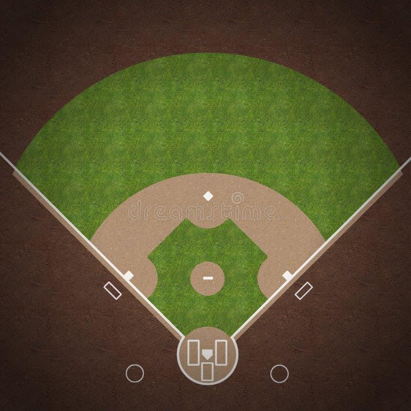 棒球场 向量例证