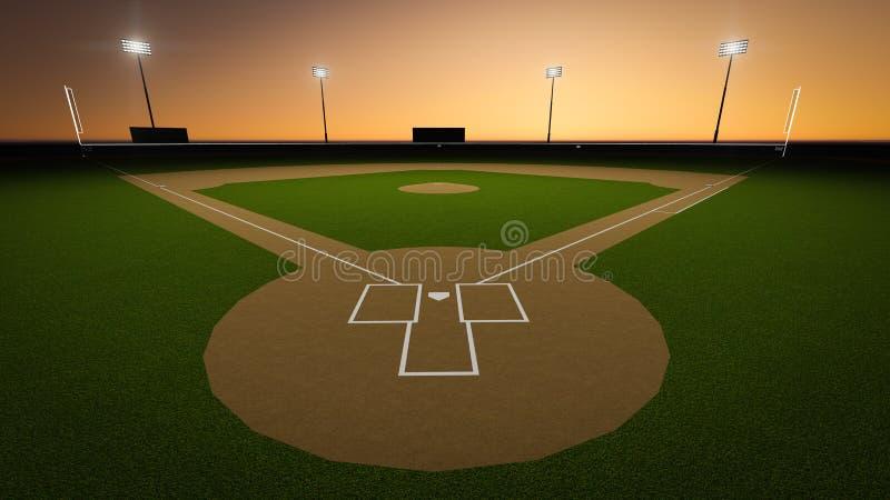 棒球场 皇族释放例证