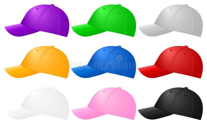 棒球帽颜色 向量例证