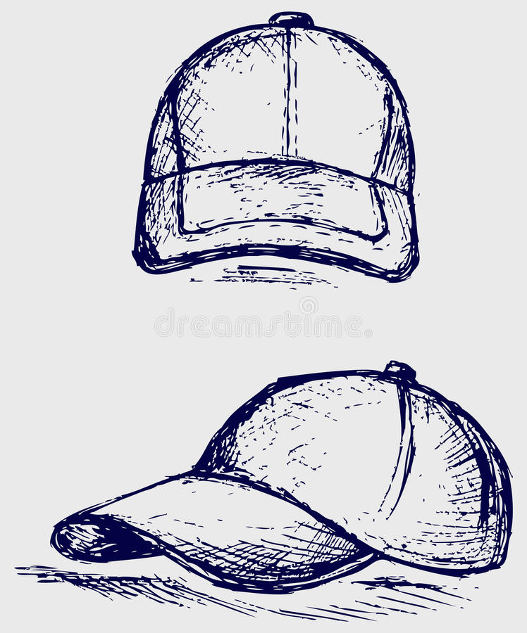 棒球帽 皇族释放例证