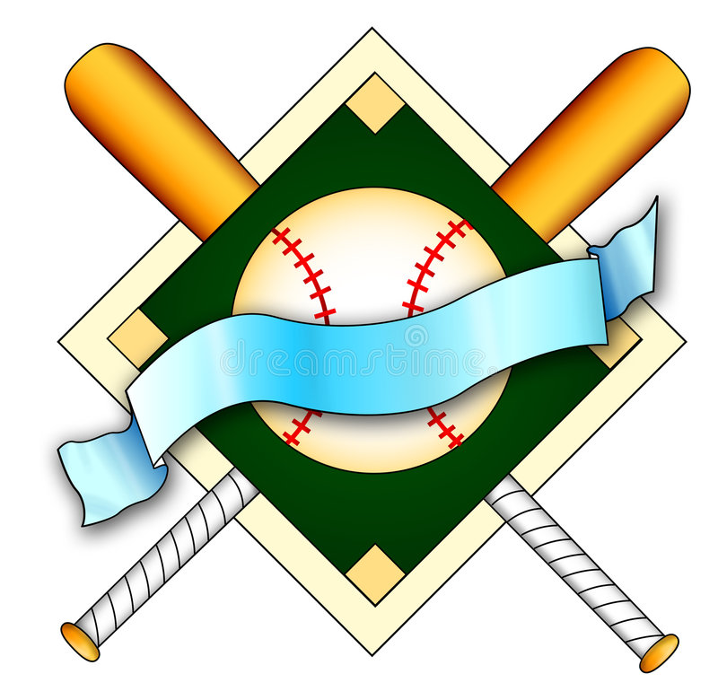 棒球徽标 皇族释放例证