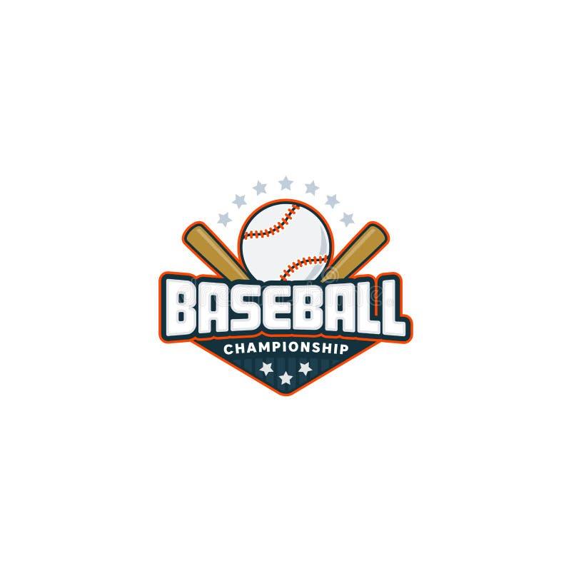 棒球徽章商标 向量例证