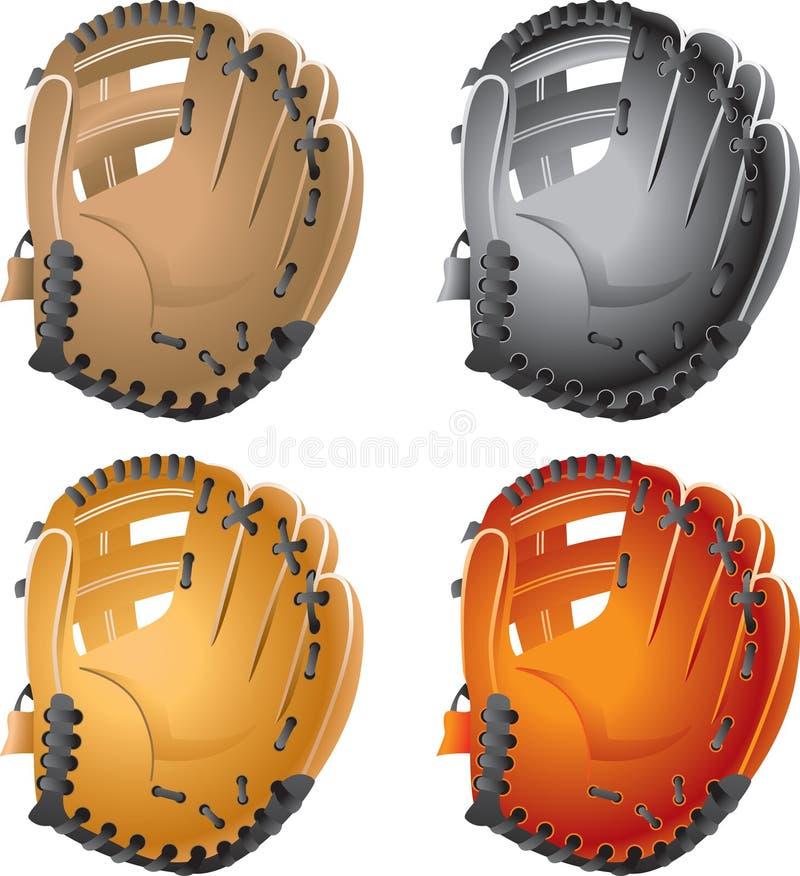 棒球手套 皇族释放例证