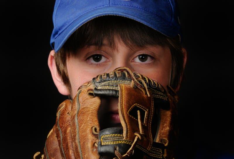 棒球投手年轻人 免版税图库摄影