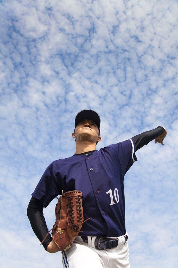 棒球投手 库存照片