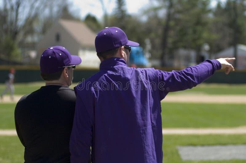 棒球教练 图库摄影