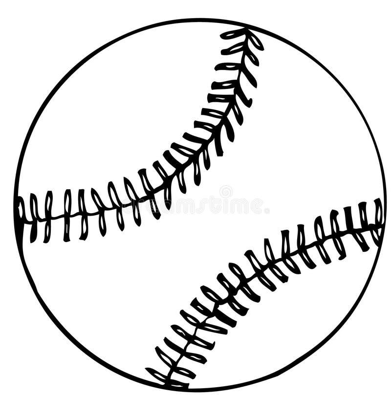 棒球新的向量 向量例证
