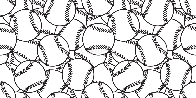 棒球无缝的样式传染媒介网球瓦片背景墙纸围巾隔绝了图表白色 向量例证