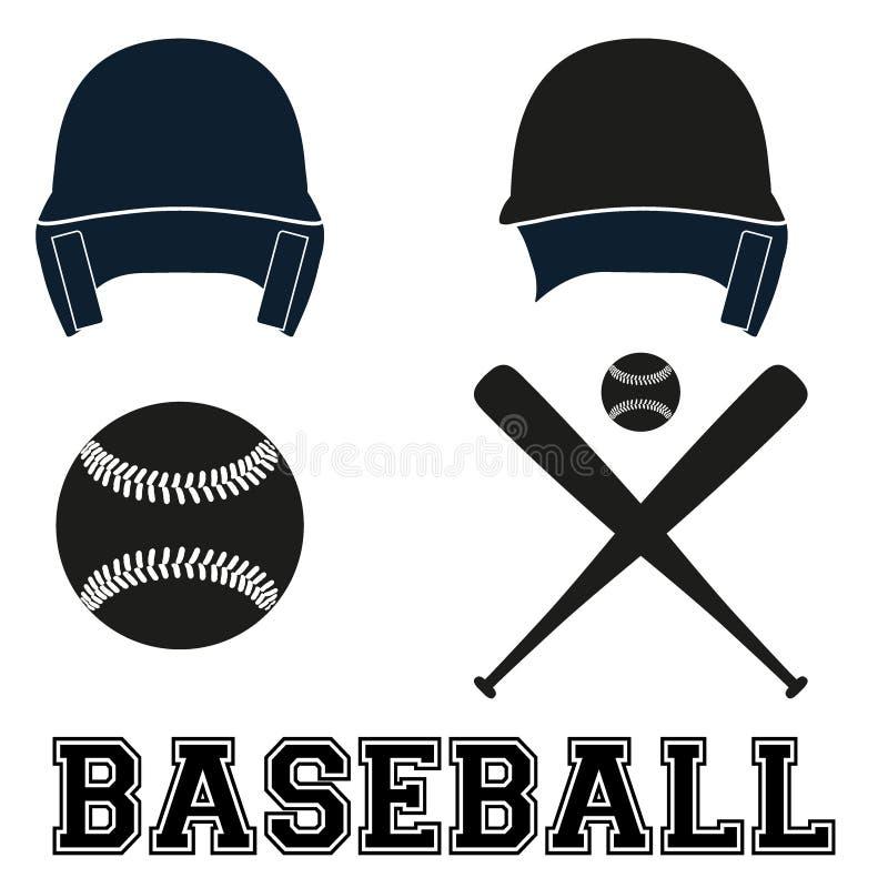 棒球标志 平的样式 库存例证