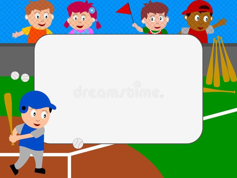 棒球框架照片 向量例证