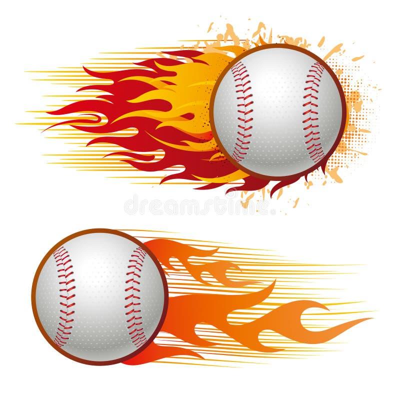 棒球火焰 库存例证