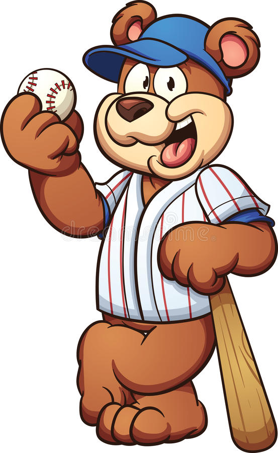 棒球熊 向量例证