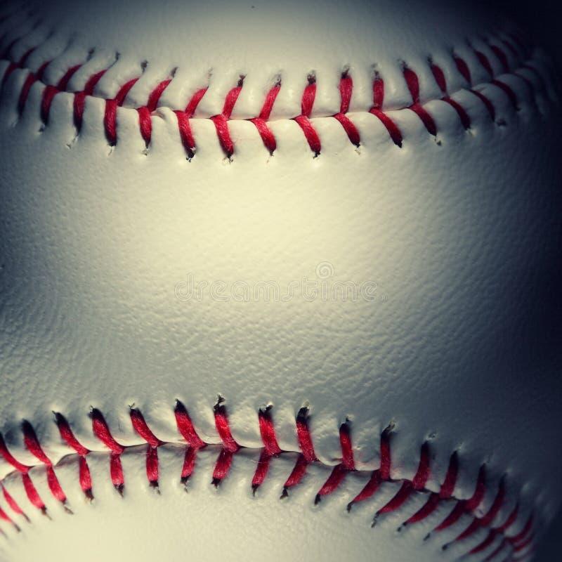 棒球特写镜头 库存图片
