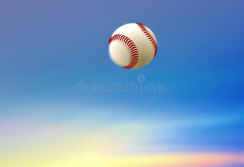 棒球球本垒打 库存图片