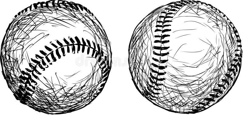 棒球球 皇族释放例证