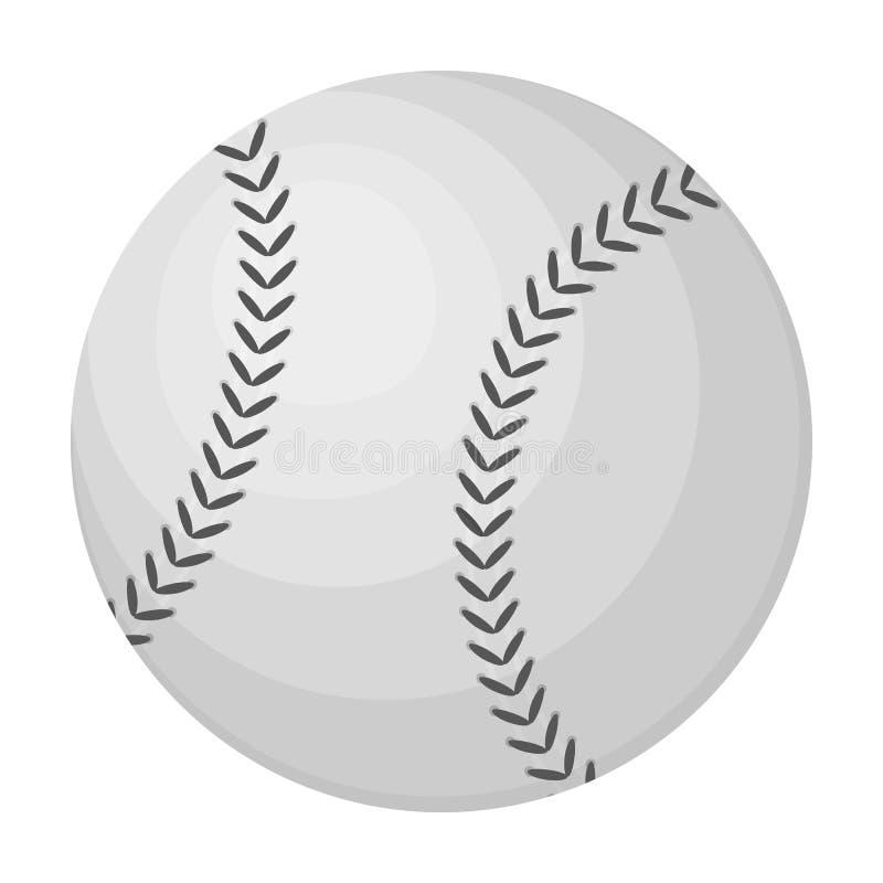 棒球的球 在单色样式传染媒介标志股票例证网的棒球唯一象 皇族释放例证